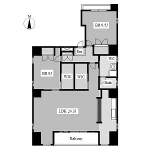 2LDK Mansion in Higashisakura - Nagoya-shi Higashi-ku Floorplan