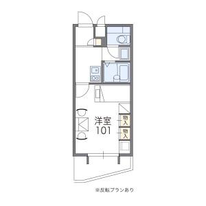 奈良市法華寺町-1K公寓大廈 房間格局