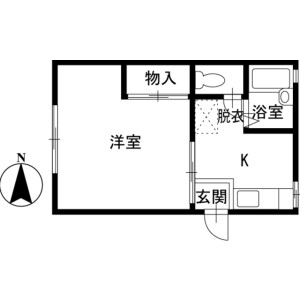1K Apartment in Yanagishima - Chigasaki-shi Floorplan