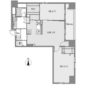 2LDK Apartment in Nishiki - Nagoya-shi Naka-ku Floorplan