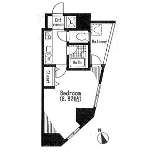 1K Mansion in Nishimagome - Ota-ku Floorplan