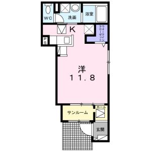 1K Apartment in Naruse - Machida-shi Floorplan