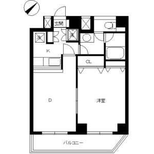 1DK Mansion in Minamidai - Nakano-ku Floorplan