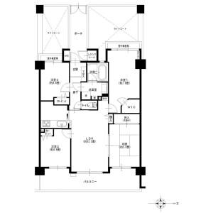4LDK {building type} in Nogawa - Kawasaki-shi Miyamae-ku Floorplan