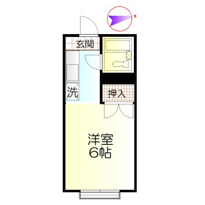 1R Apartment in Minamidaira - Hino-shi Floorplan