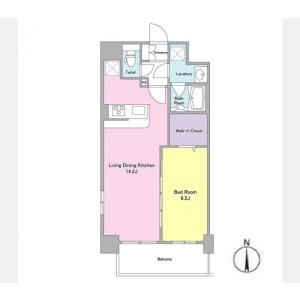 1LDK Mansion in Midori - Sumida-ku Floorplan