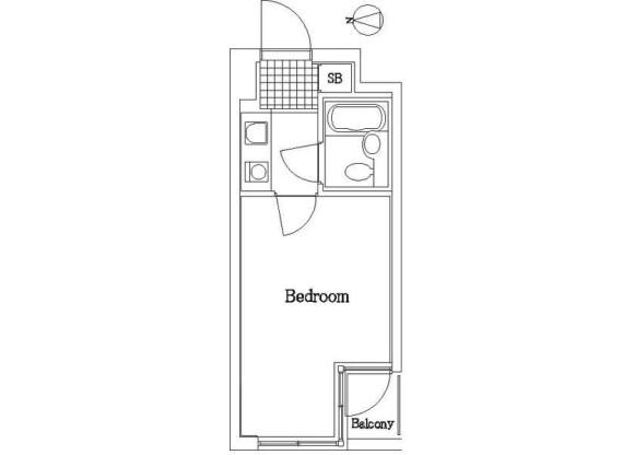 1K Apartment to Rent in Taito-ku Floorplan