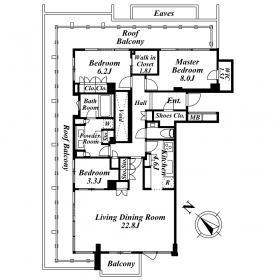 3LDK Mansion in Sarugakucho - Shibuya-ku Floorplan