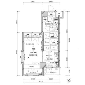 新宿区西新宿-1K公寓大厦 楼层布局