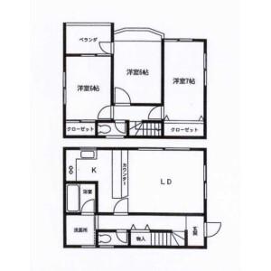 3LDK House in Hirasaku - Yokosuka-shi Floorplan