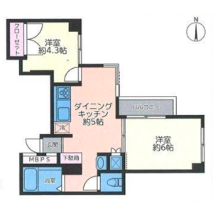 2DK {building type} in Toyotamakita - Nerima-ku Floorplan