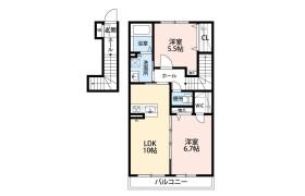 2LDK Apartment in Sankakucho - Chiba-shi Hanamigawa-ku