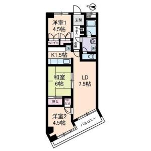 3LDK Apartment in Ikuta - Kawasaki-shi Tama-ku Floorplan