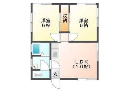 2LDK House to Rent in Gujo-shi Floorplan