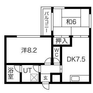 2DK Mansion in Hojo - Daito-shi Floorplan