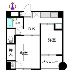 2DK Mansion in Kameido - Koto-ku Floorplan