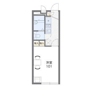 1K Apartment in Unoki - Ota-ku Floorplan