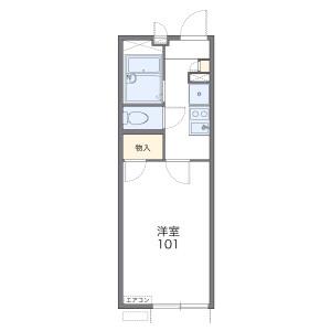 1K Apartment in Nishino hitsugawacho - Kyoto-shi Yamashina-ku Floorplan
