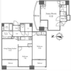 3LDK Apartment to Rent in Chuo-ku Floorplan