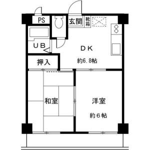 2DK Mansion in Onojimachi - Machida-shi Floorplan