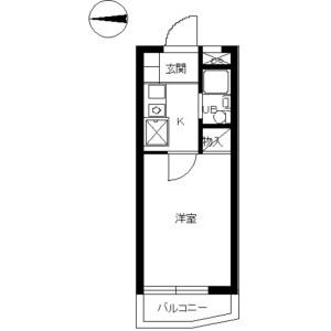 1K Mansion in Rokukakubashi - Yokohama-shi Kanagawa-ku Floorplan