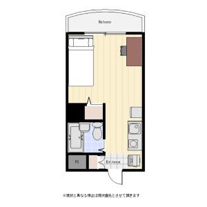 大田區大森北-1R公寓大廈 房間格局