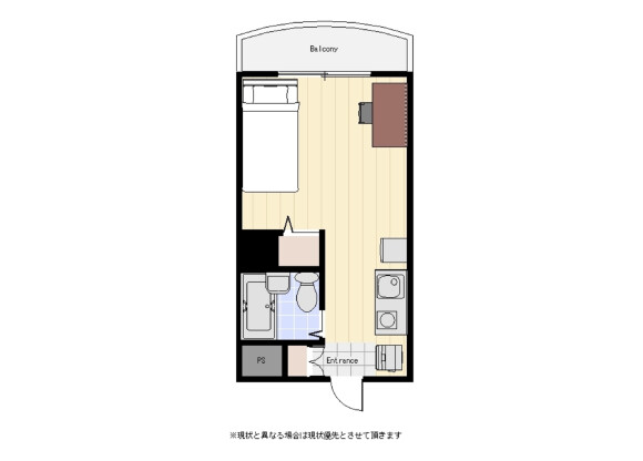 1R Apartment to Rent in Ota-ku Floorplan