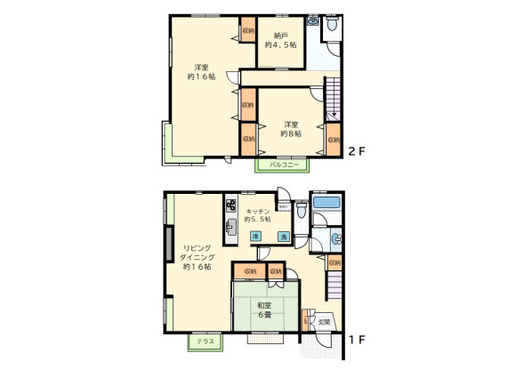3SLDK Terrace house to Rent in Setagaya-ku Floorplan
