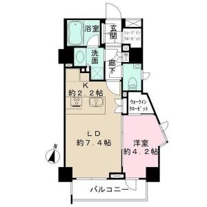 1LDK Apartment in Kikuicho - Shinjuku-ku Floorplan