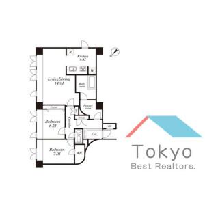 2LDK Mansion in Takada - Toshima-ku Floorplan