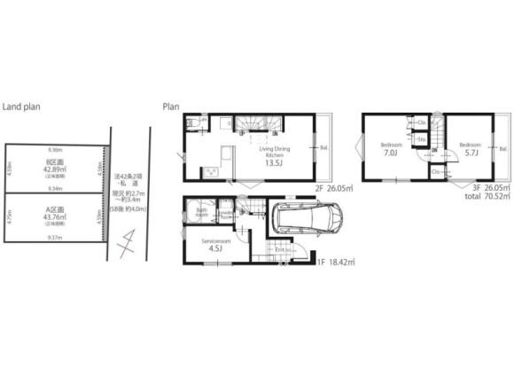 2LDK House to Buy in Shibuya-ku Floorplan