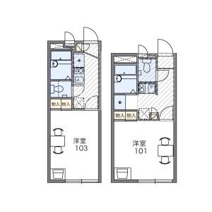 1K Apartment in Kamikoshima - Nagasaki-shi Floorplan