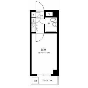 新宿区高田馬場-1K公寓大厦 楼层布局