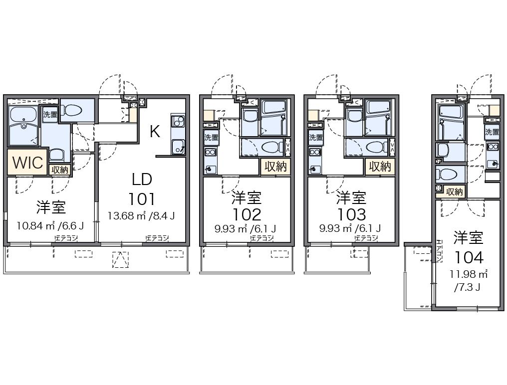 1ldk apartment shinkamata ota ku tokyo japan for for Japanese apartment plans