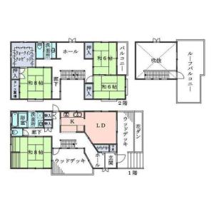 鎌倉市長谷-5SLDK獨棟住宅 房間格局