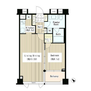 1LDK Apartment in Jingumae - Shibuya-ku Floorplan