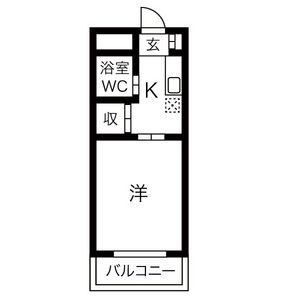 1K Mansion in Obata - Nagoya-shi Moriyama-ku Floorplan