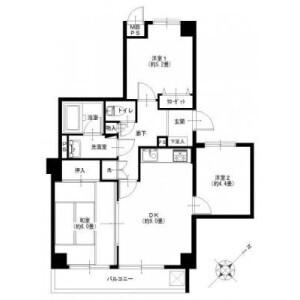 3DK {building type} in Besshiyo - Yokohama-shi Minami-ku Floorplan
