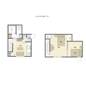 豊岛区高田-2DK公寓大厦 楼层布局