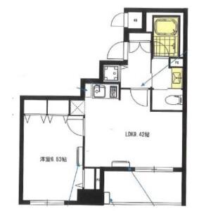 1LDK Mansion in Shinkawa - Chuo-ku Floorplan