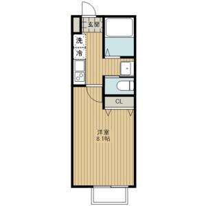 埼玉市北區日進町-1K公寓 房間格局