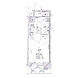1K Mansion in Hiroo - Shibuya-ku Floorplan