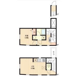 1LDK Apartment in Hiroo - Shibuya-ku Floorplan
