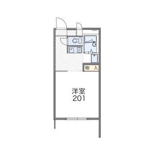 1K Apartment in Higashiasakawamachi - Hachioji-shi Floorplan