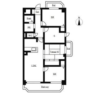 3SLDK Apartment in Koyocho - Nagoya-shi Chikusa-ku Floorplan