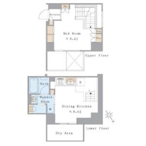 1DK Mansion in Kitazawa - Setagaya-ku Floorplan