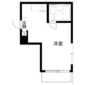 1R Mansion in Hatagaya - Shibuya-ku Floorplan