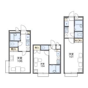1K Apartment in Kamiogi - Suginami-ku Floorplan