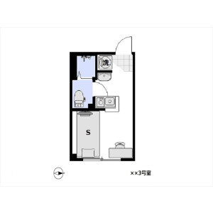 1R Apartment in Hanegi - Setagaya-ku Floorplan