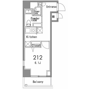 1K Mansion in Aobadai - Meguro-ku Floorplan